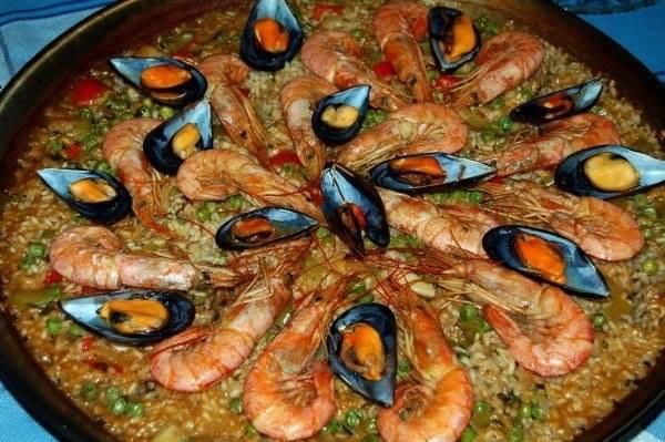 паэлья с морепродуктами дома