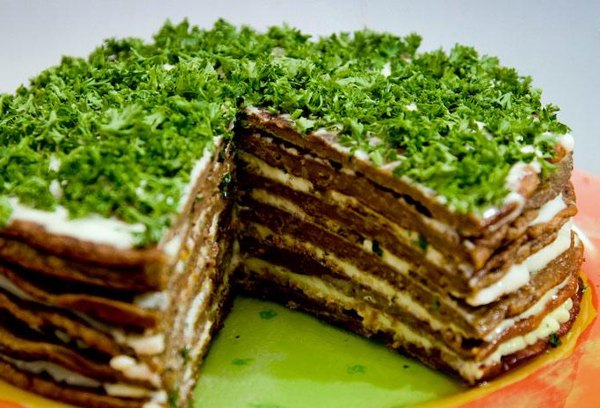 Печеночный торт из говяжьей печени рецепт