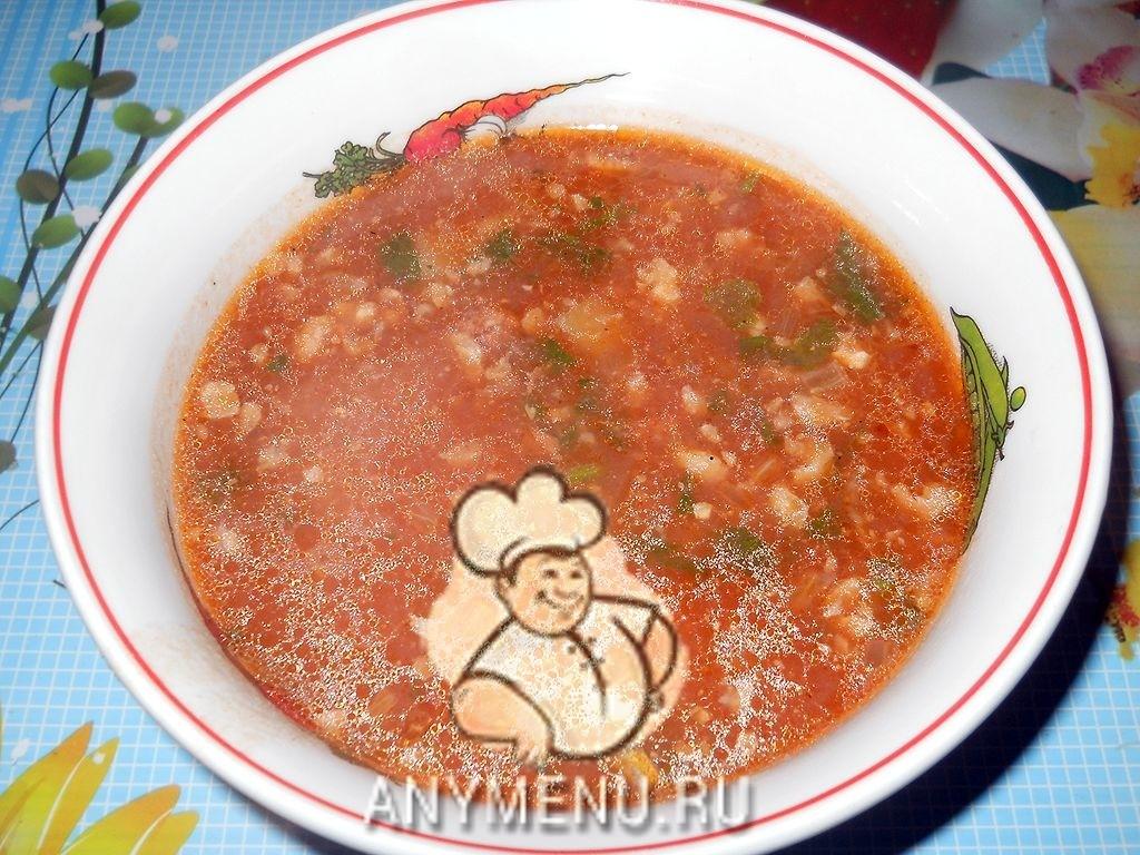 Суп харчо приготовления с пшеном