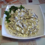 Салат из языка c грибами