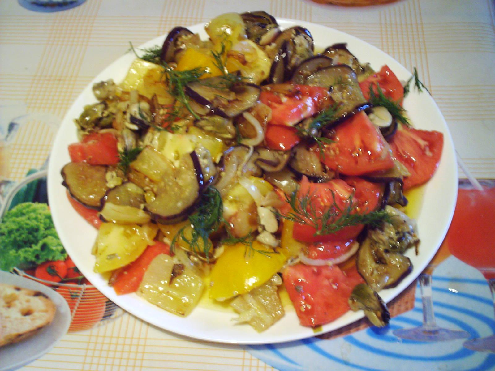 Теплый салат из мидий рецепты 4