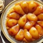 Грушевый пирог-татин с маскарпоне и коричневым сахаром