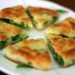 Быстрый пирог с зеленым луком
