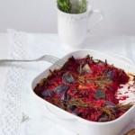Печеная свекла и красный лук с ароматом розмарина