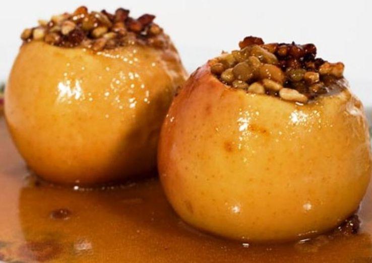 яблоки с творогом и медом в духовке