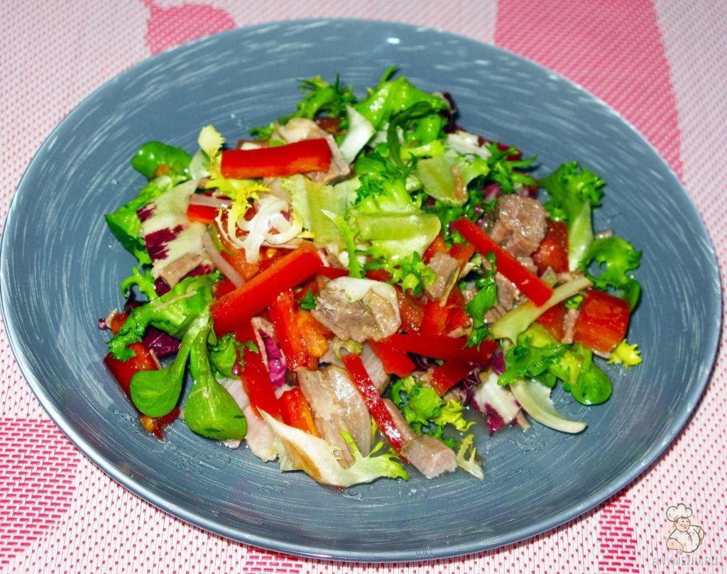 Салат из отварной говядины и свежих овощей (6)