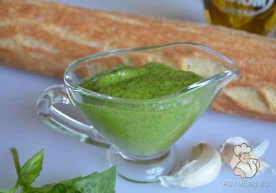Базиликовый соус с оливковым маслом (2)
