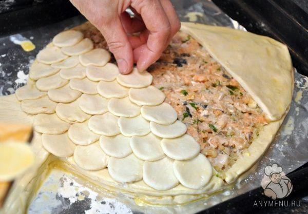 Пирог Золотая рыбка5