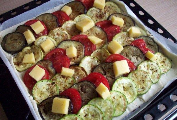 Пирог с кабачками и баклажанами5