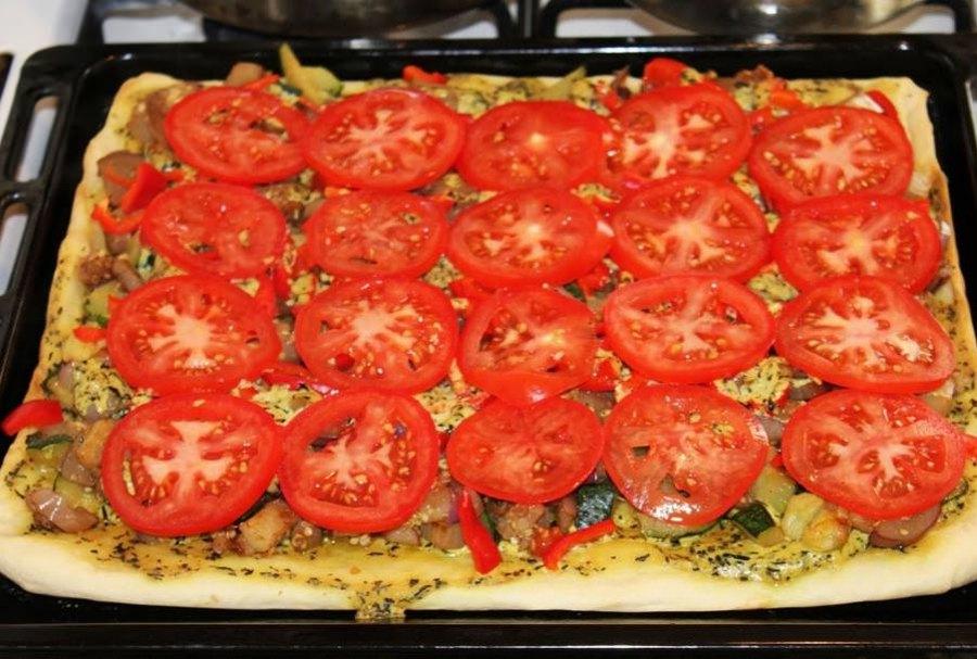 Сочная пицца с овощами 7