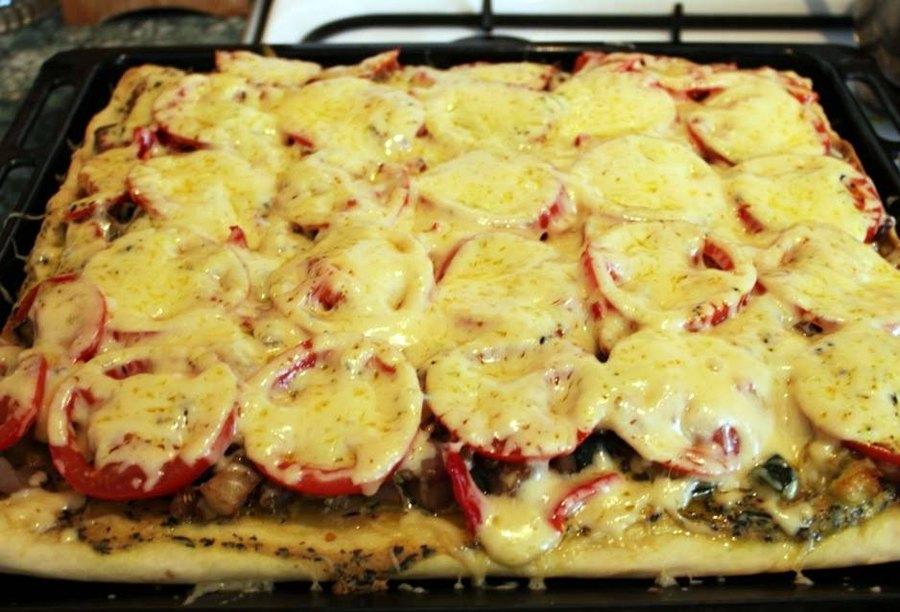 Сочная пицца с овощами 9