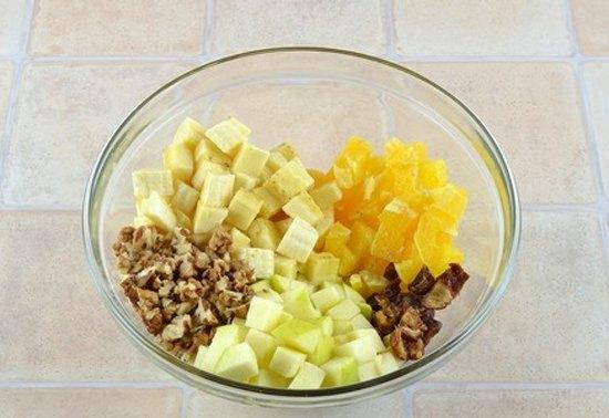 Фруктовый салат с орехами7
