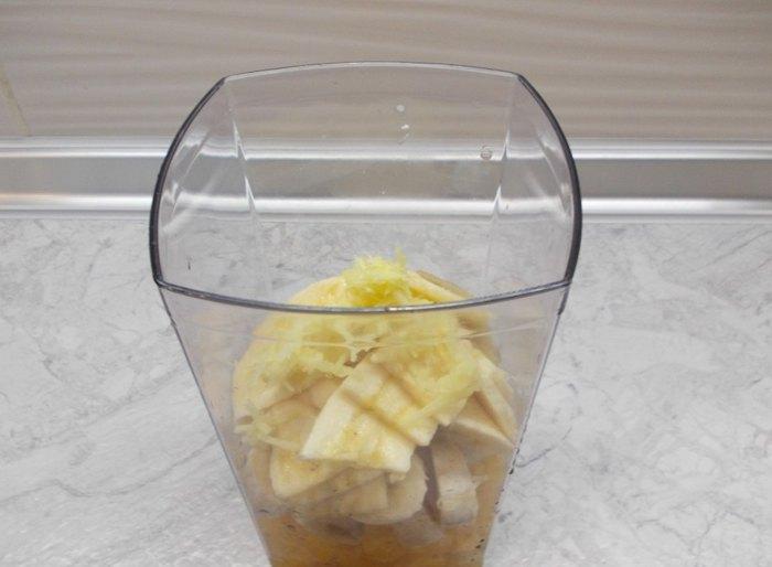 Апельсиново банановый смузи с имбирём1