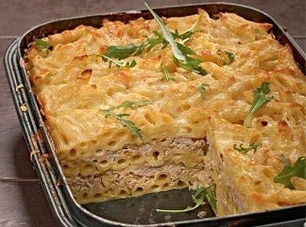 Запеканка из готовых макарон с фаршем в духовке рецепт