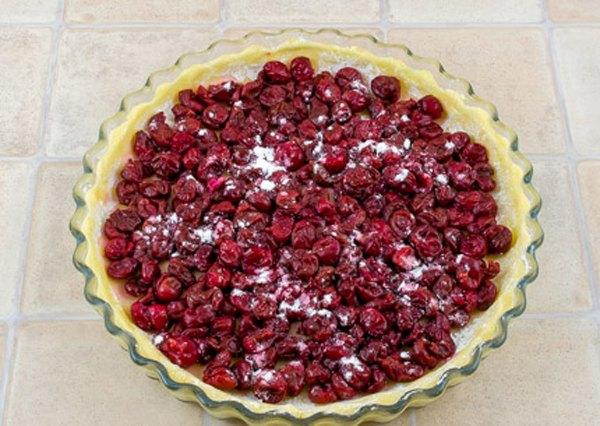 Вишневый пирог с крошкой4