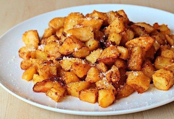 Печеный картофель с пармезаном