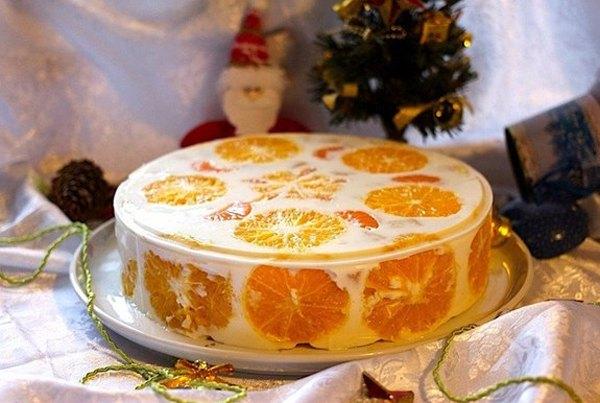 Желейный торт Фруктовый Новый год