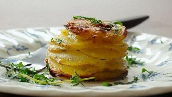 Хрустящие башенки из картофеля