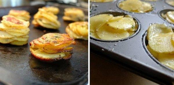 Хрустящие башенки из картофеля3
