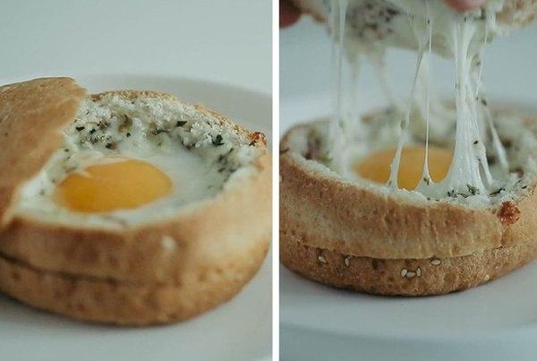 Яичница в булочке2