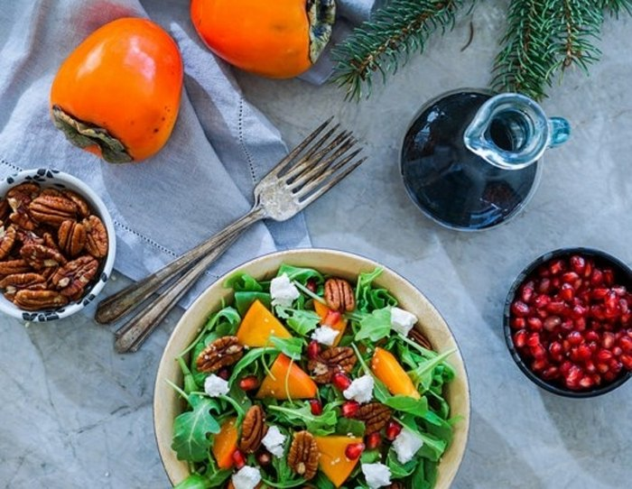 Салат с хурмой (3)