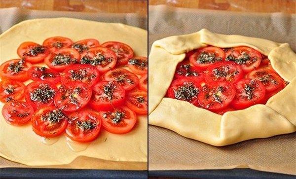 Деревенская галета с помидорами моцареллой и тимьяном1