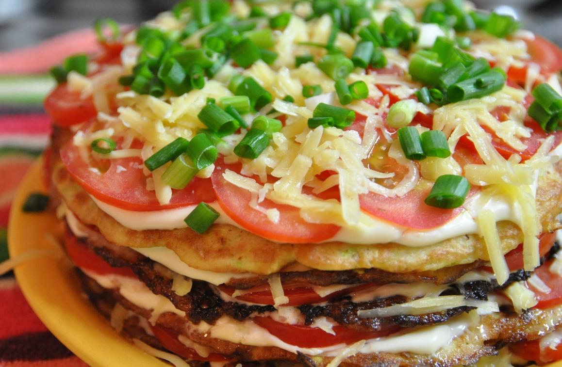 Торт из кабачковых блинчиков рецепт